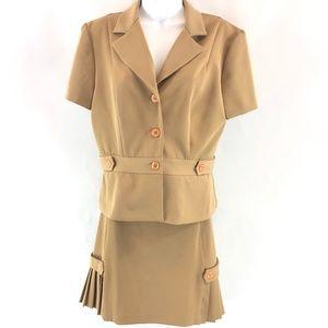 B. Smart Tan Skirt Suit 11 / 12